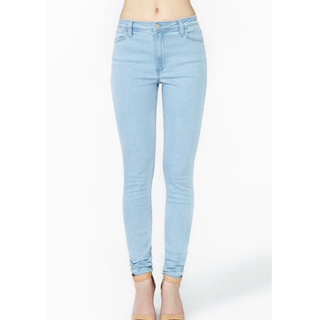 61024a8823 BNWT H&M Light Blue Skinny Jeans, Women's Fashion on Carousell