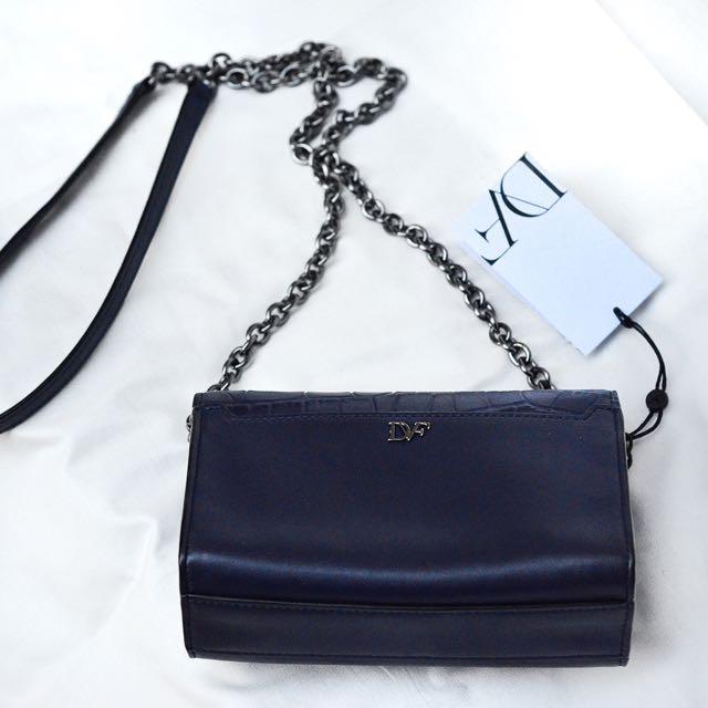 Diane von Furstenberg 440 Micro Leather Crossbody Bag