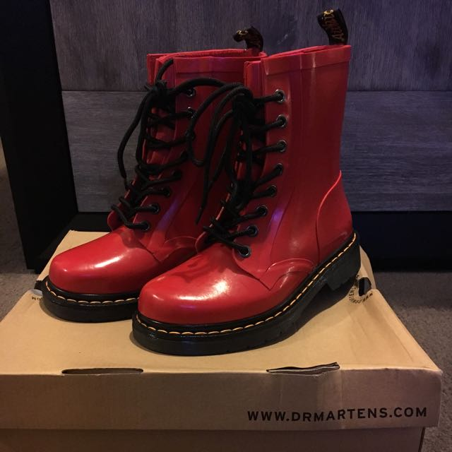 Doc Martens Red Drench Boots