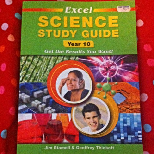 Excel Science Study Guide Yr 10