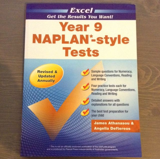 Excel Year 9 Naplan - Style Tests Booklet