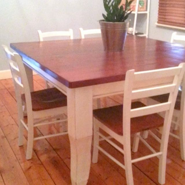 French Farmhouse Dining Table and Chairs