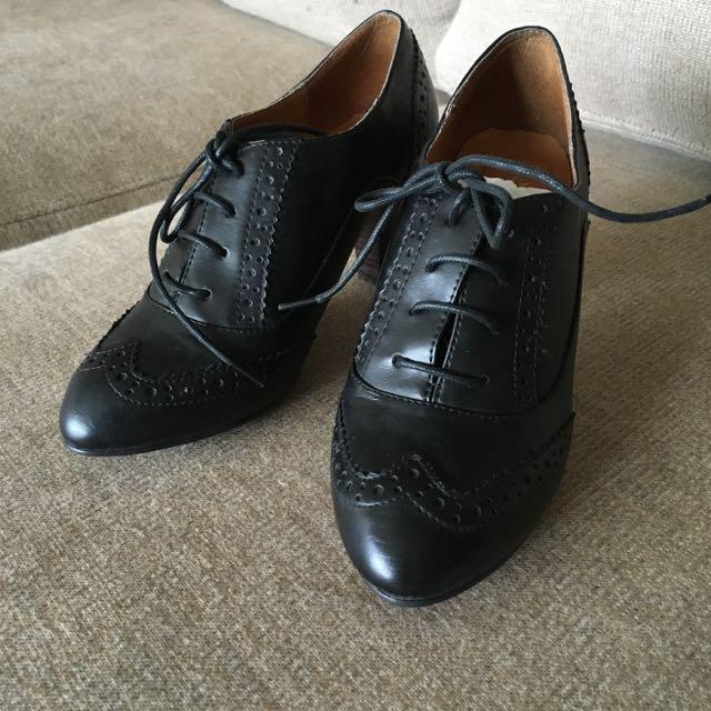 Grace Gift復古高跟牛津鞋23號