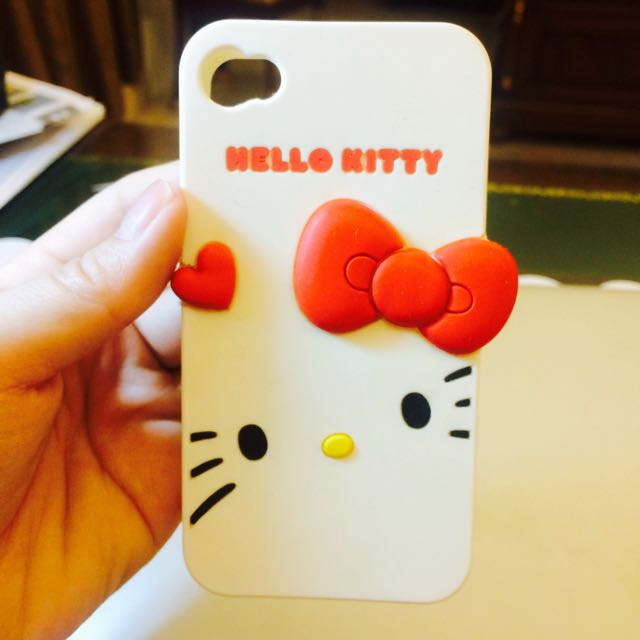 超可愛Hello Kitty iPhone 4/ iPhone 4s軟手機殼