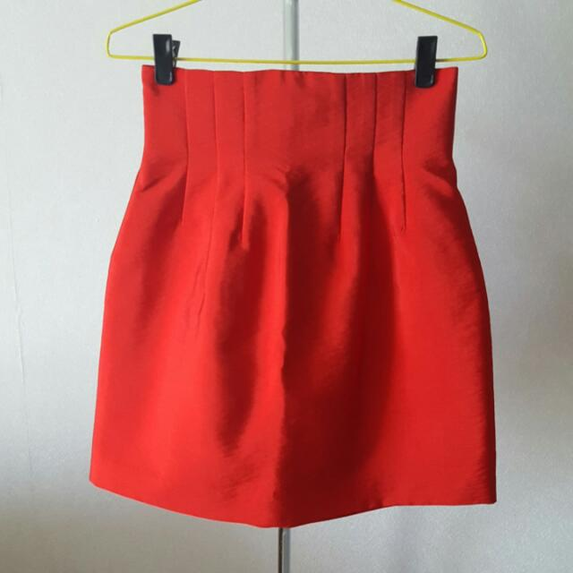 H&M Orange Skirt