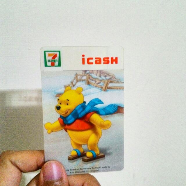 (已售)icash小熊維尼冬季限定卡