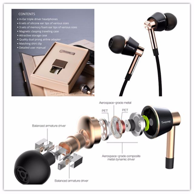 (Try & Buy)1MORE E1001 Triple Driver In-ear Headphones, Electronics on Carousell