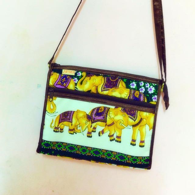 泰國JTT 吉祥大象民族風隨身小包