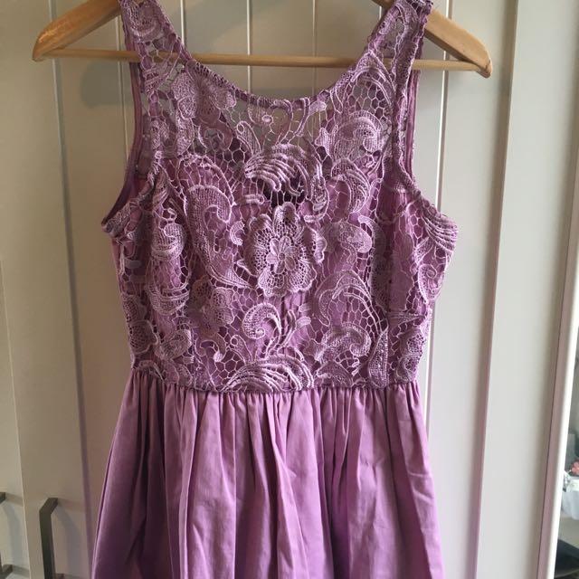 Lilac Lace Bust Dress