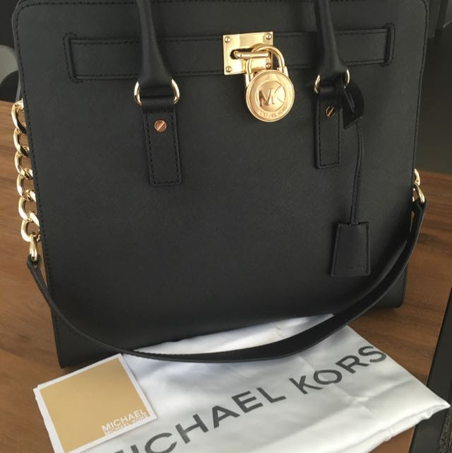 Michael Kors Hamilton Large Tote - Black