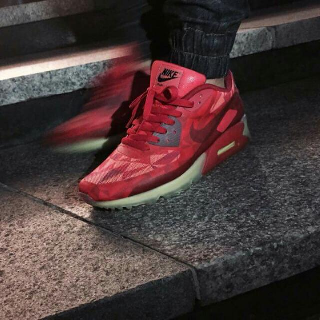 10951ba9bf541 ... coupon code for authentic air max 90 gym red ice pack mens fashion on  carousell 2a86d