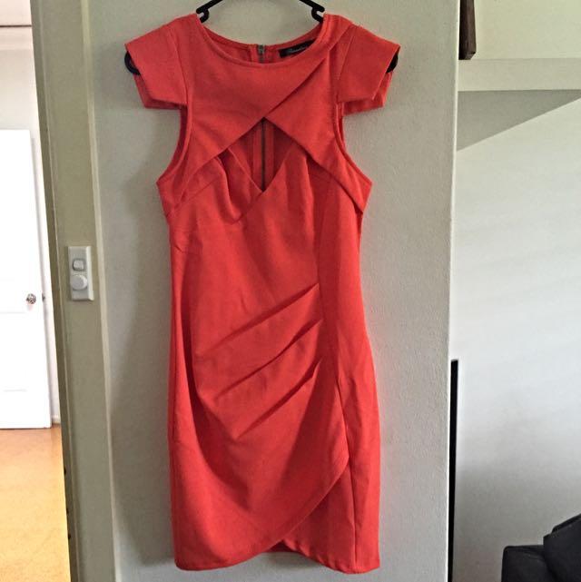 Orange Size 6 Dress