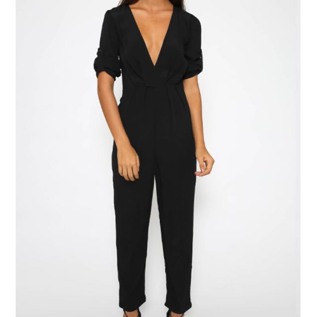 Pepper Mayo  ▪️fly by jumpsuit in black