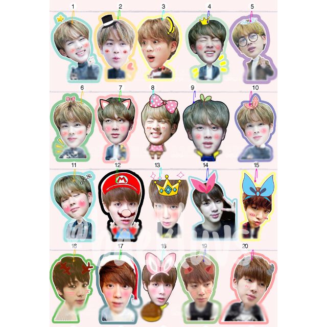 Po Bts Jin Stickers Handphone Strap Preorders On