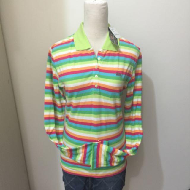 Polo Jeans彩虹長袖POLOT