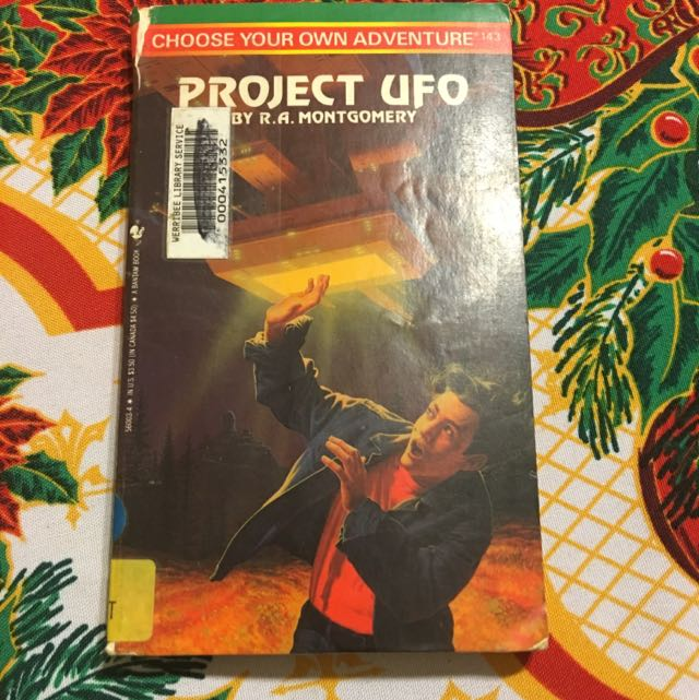 Project UFO Choose Your Own Adventure Book