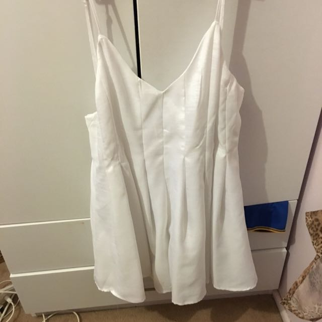 Simple White Playsuit