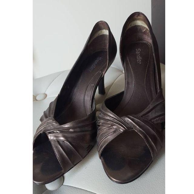 Size 6.5 - Sandler Bronze Heels
