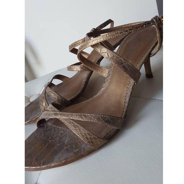 Size 7 - Ravella Strappy Gold/Bronze Heels