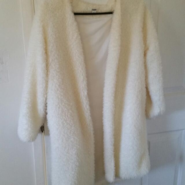 White Fluffy Jacket