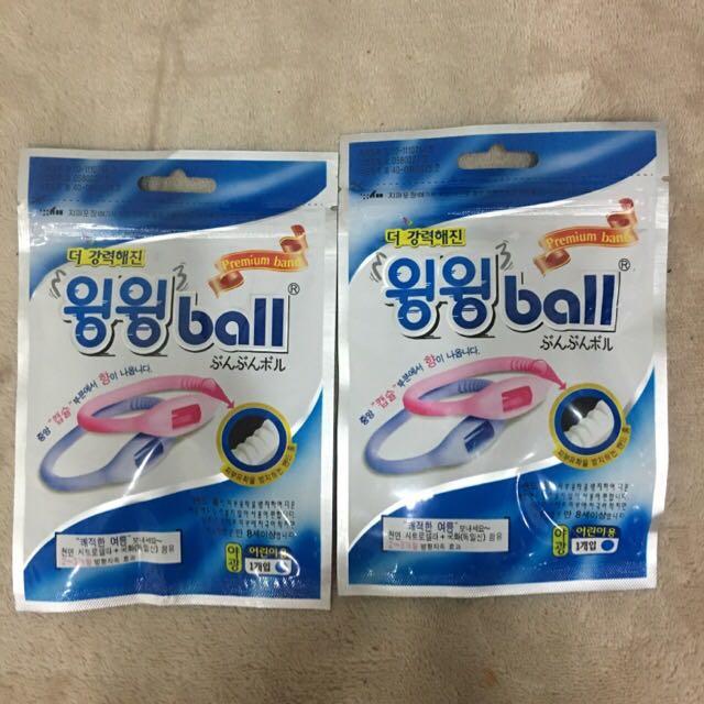 韓國製WingWing Ball 天然長效精油防蚊矽膠手環藍色(兒童)兩入