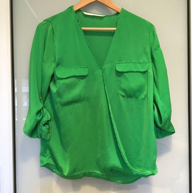Zara Green Top
