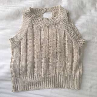 Beige Knitted Top - 6