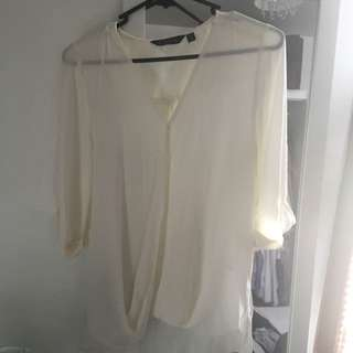 White Silk Top - 6