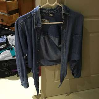 Vintage Tie Up Denim Jacket