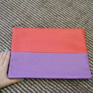 Large Purple & Red Clutch
