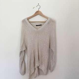 Slouchy Knit Sportsgirl Jumper // Size XS