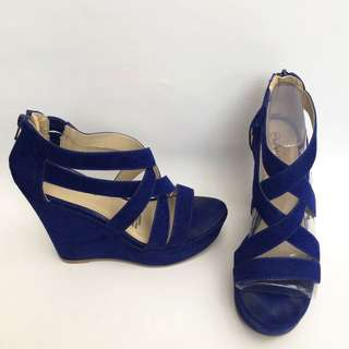 Blue Strap Wedges