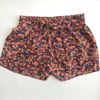 Floral Shorts With Pockets