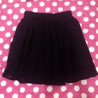 Black Gather Skirt - Rok Kerut Hitam