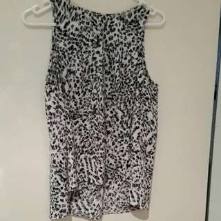 Sunnygirl High Neck Snow-leopard Tank