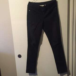 Black Miss Shop Skinny Leg Jeans Size 10