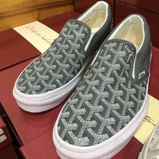 Christopher Wanton Goyard X Vans 懶人鞋 新款灰色