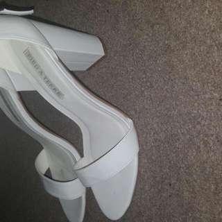 High Heel Thick Heel White