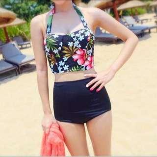 BN High Waist Tropical Bikini