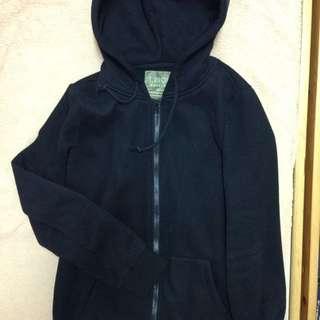 OB嚴選 黑色刷毛外套 XL