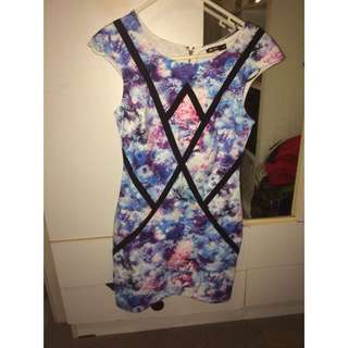 patterned going out dress