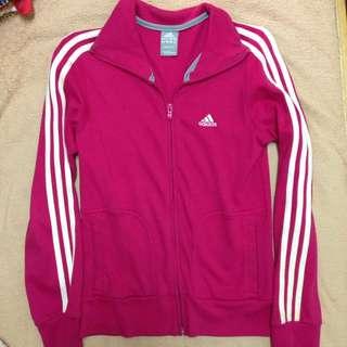 Adidas 桃紅外套