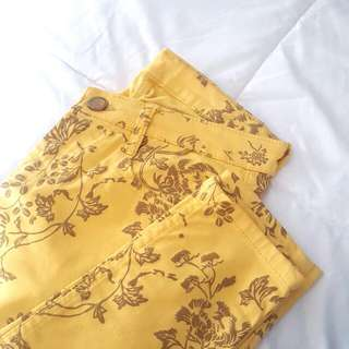 *reserved* Yellow Pattern Jeans