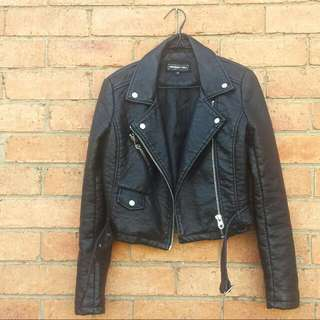 Members Only Pebbled Vegan Leather Jacket XS