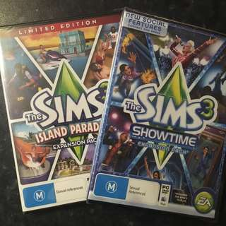 Two Sims 3 Expansion Packs