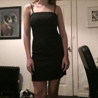 Black 90s Slip Style Dress Sz 10