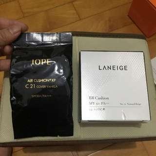 氣墊粉餅5g攜帶組(iope+蘭芝)