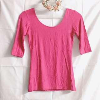 Pink Scoop-back Blouse