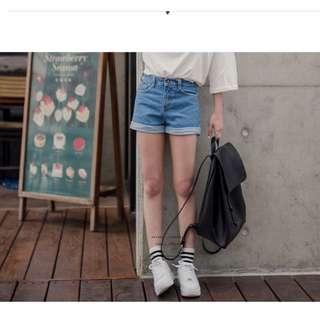 高腰 反折 短褲 M號 正韓