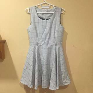 Checkered Light Grey Dress